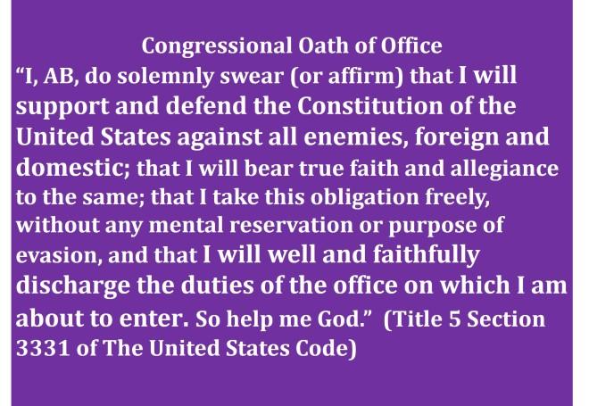 Congressional oath